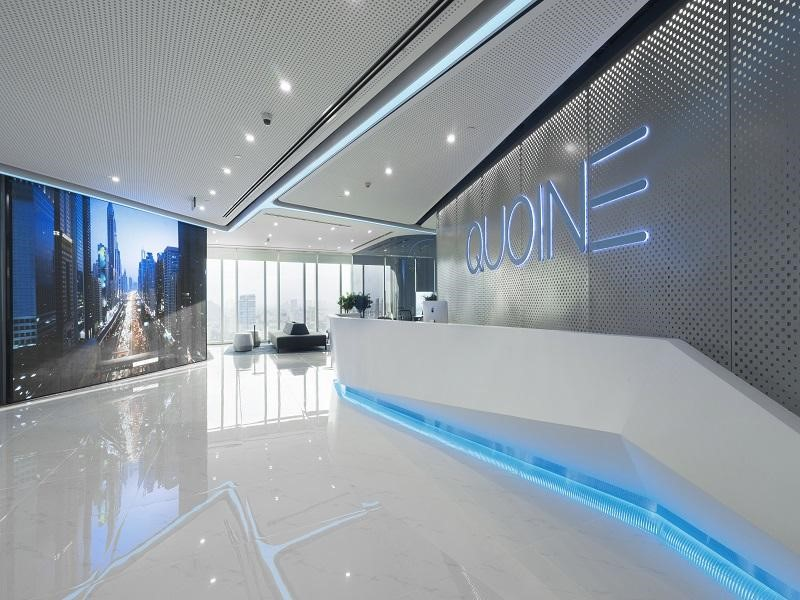 The reception of Quoine office