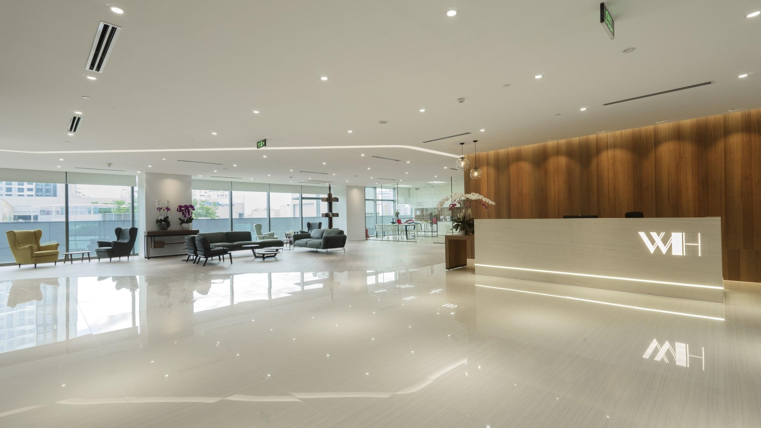 The reception of Wellhunt office