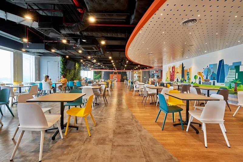 Diverse common spaces at Shopee
