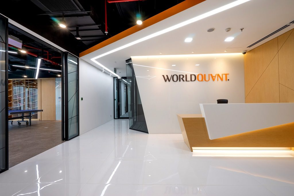 Reception area - WorldQuant Office Design