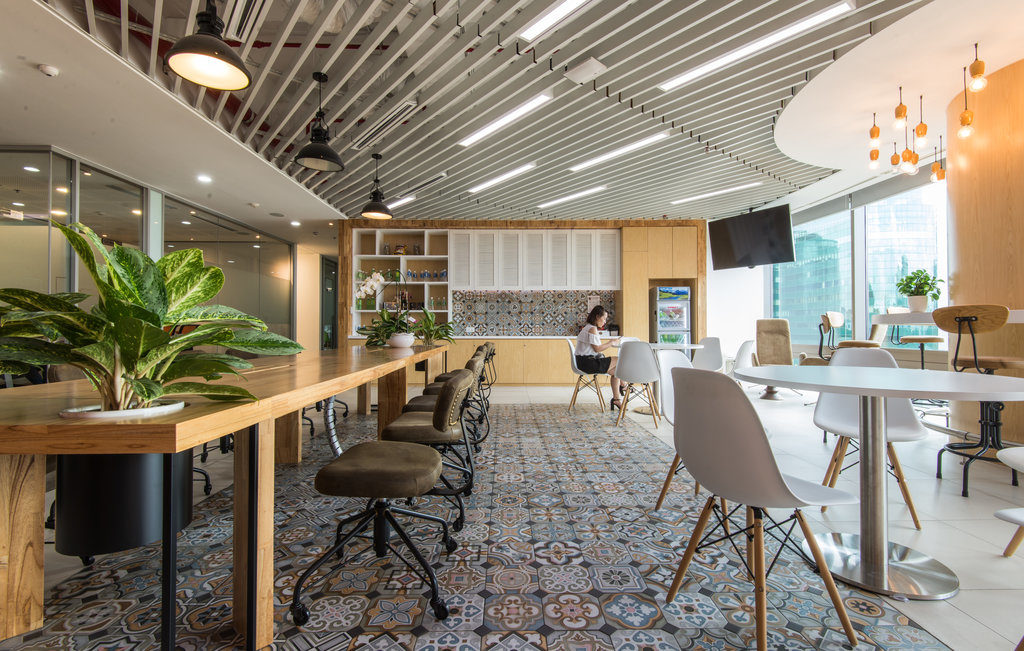 Recreational space in office design