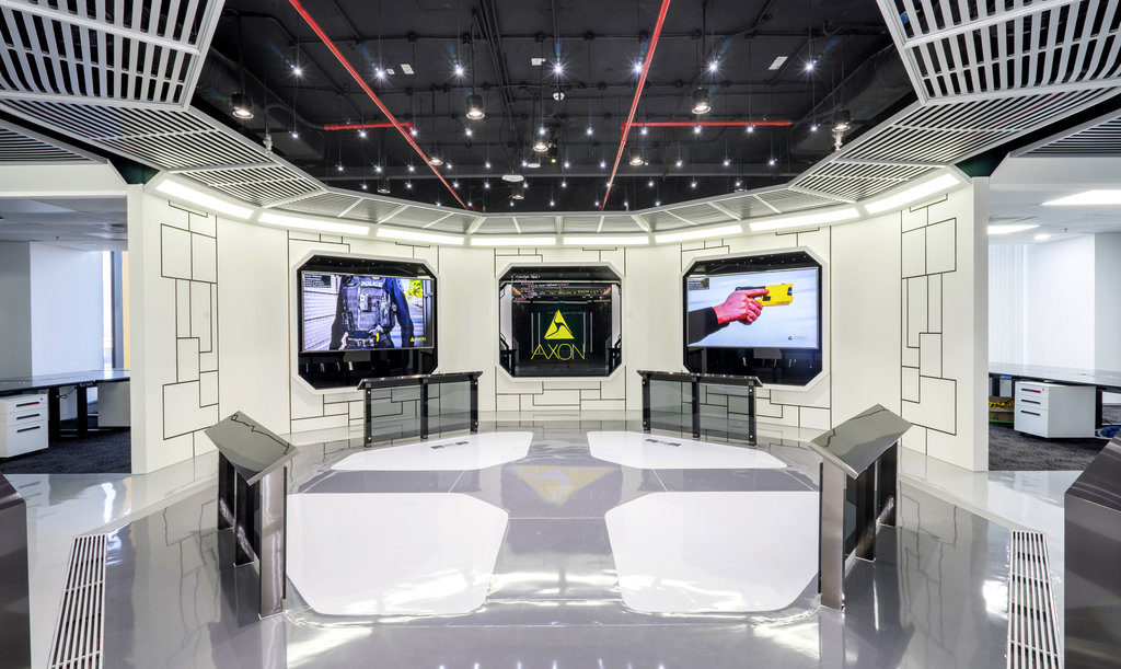 spaceship style of Axon's office design