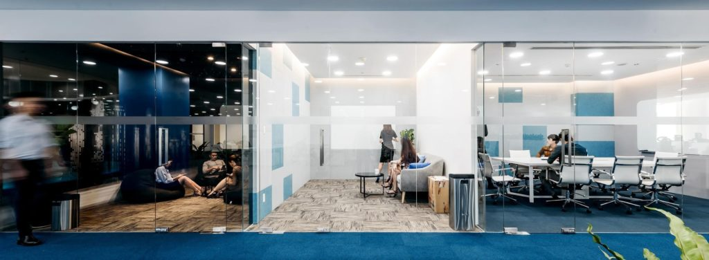 Office design with the various interactive spaces