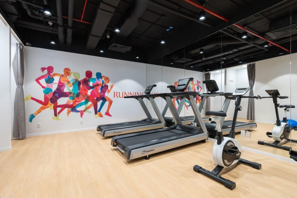 Office design for Gym room in Prudential's office