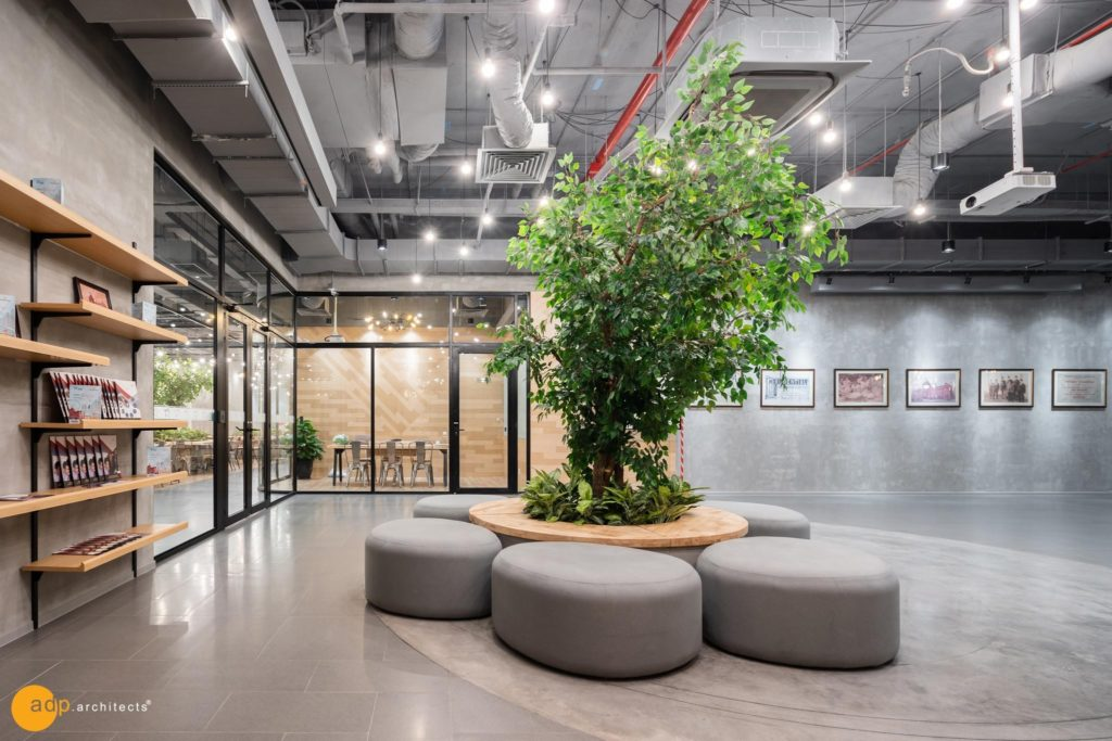 The Green decorating in Prudential Office