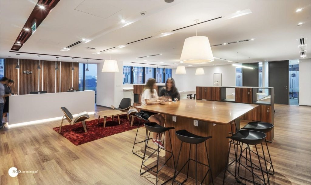 The Regus offices