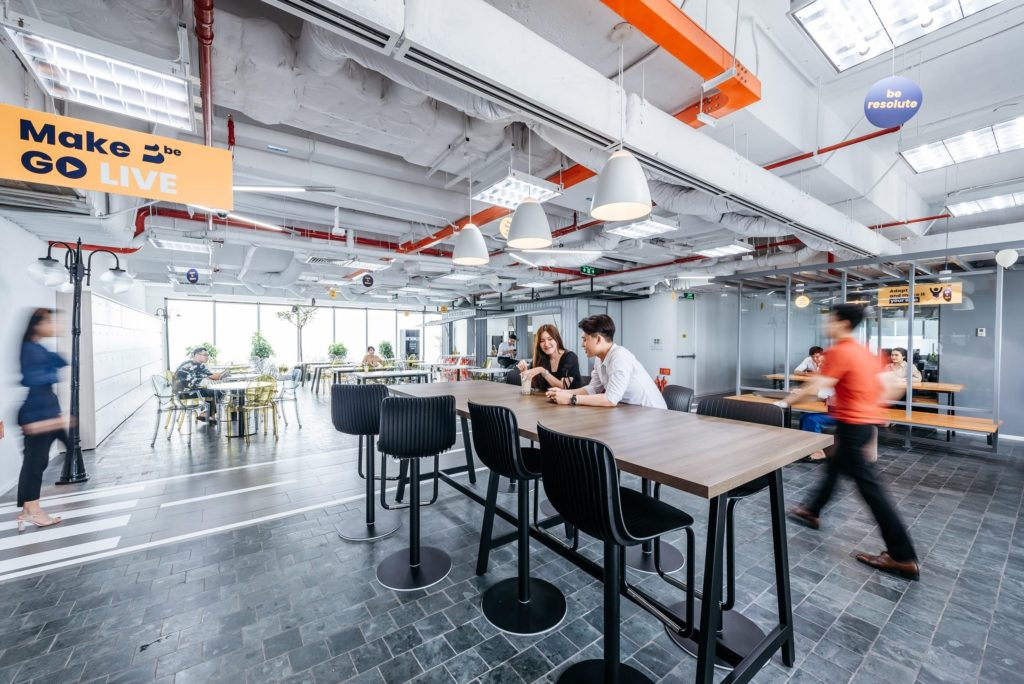 office design of ideas exchange space at Be office